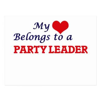 Mein Herz gehört einem Party-Führer Postkarte