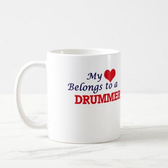 Mein Herz gehört einem Schlagzeuger Kaffeetasse
