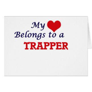 Mein Herz gehört einem Trapper Karte