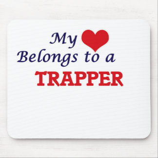 Mein Herz gehört einem Trapper Mauspads