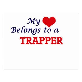 Mein Herz gehört einem Trapper Postkarte