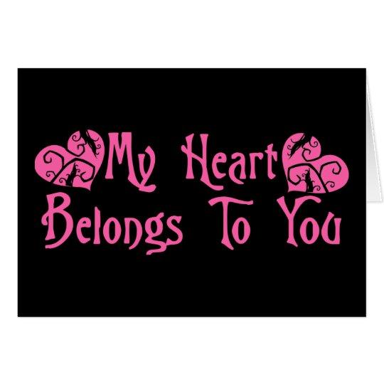 Mein Herz gehört Ihnen Karte
