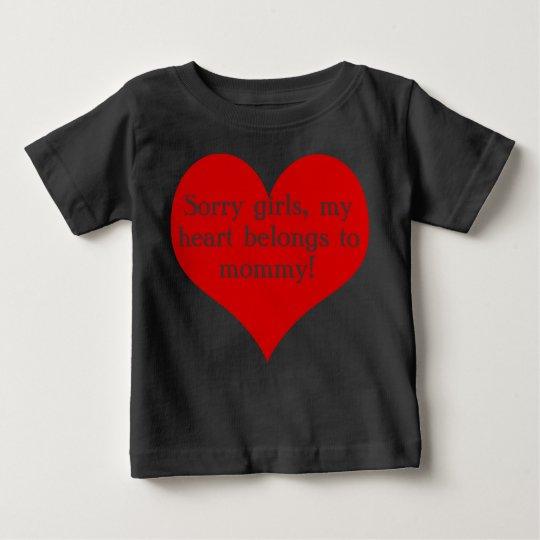 Mein Herz gehört Mama Baby T-shirt