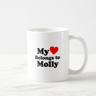 Mein Herz gehört Molly Kaffeetasse
