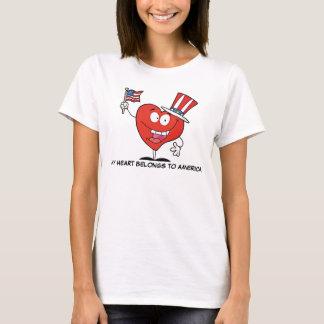 Mein Herz gehört nach Amerika T-Shirt
