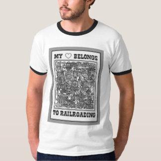 Mein Herz gehört Railroading T - Shirt