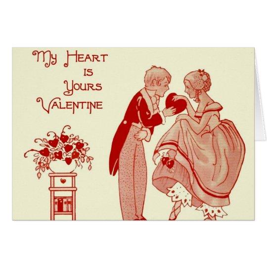 Mein Herz ist Ihr Grußkarte