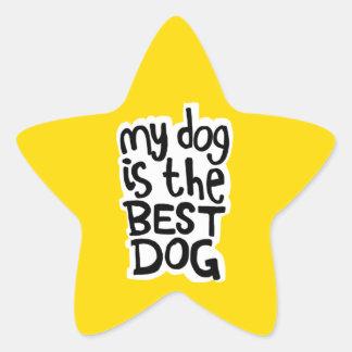 Mein Hund ist die besten Hundeaufkleber Stern-Aufkleber