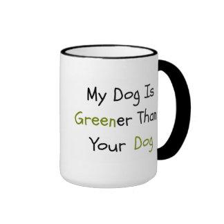 """""""Mein Hund ist grüner als Ihr Hunde"""" Tasse"""
