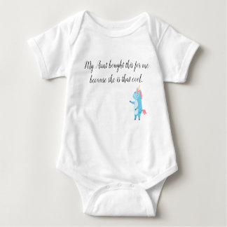 Mein Kind Tanten-Cool Unicorn Humor Jumper Baby Strampler