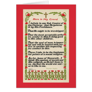 Mein Kredo durch Benjamin Franklin-Karte - rote Karte
