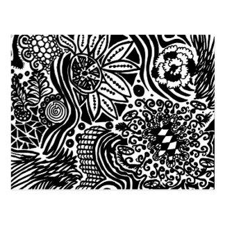Mein LandSchwarzweiss-zeichnen zur Farbe Postkarte
