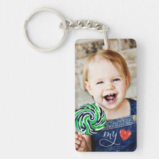 Mein Liebe-süßes Foto einseitiges Keychain Schlüsselanhänger