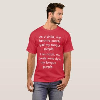 Mein Liebling färbt meine lila Zunge T-Shirt