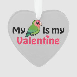 Mein Lovebird ist mein Valentinsgruß Ornament