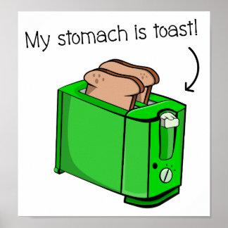 Mein Magen ist Toast Poster
