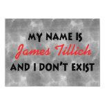 Mein Name ist James Tillich 12,7 X 17,8 Cm Einladungskarte