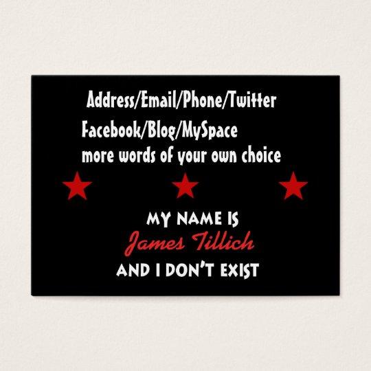 Mein Name ist James Tillich Jumbo-Visitenkarten
