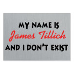 Mein Name ist James Tillich Mini-Visitenkarten