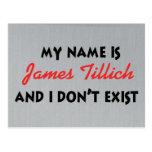 Mein Name ist James Tillich Postkarten