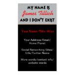 Mein Name ist James Tillich Visitenkarten