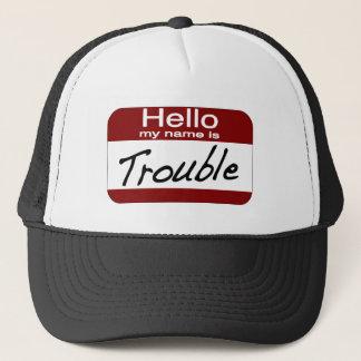 Mein Name ist Problem Truckerkappe