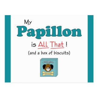 Mein Papillon ist alles das! Postkarte