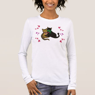Mein Purrfect Valentinsgruß Langarm T-Shirt