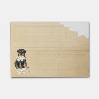 Mein Rottweiler aß meine Hausaufgaben Post-it Klebezettel
