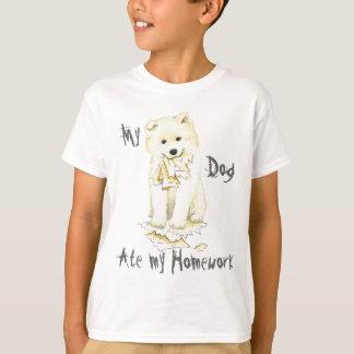 Mein Samoyed aß meine Hausaufgaben T-Shirt