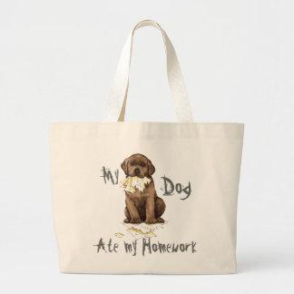 Mein Schokoladen-Labrador aß meine Hausaufgaben Jumbo Stoffbeutel