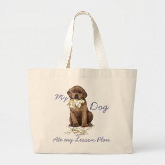 Mein Schokoladen-Labrador aß meinen Lektions-Plan Jumbo Stoffbeutel