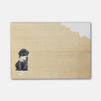 Mein schwarzer Labrador aß meine Hausaufgaben Post-it Haftnotiz