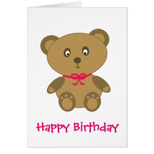 Mein Teddybär Grußkarte