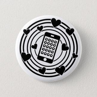Mein Telefon ist die Mitte meines Universums! Runder Button 5,7 Cm