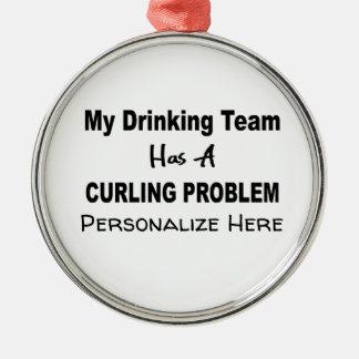 Mein trinkendes Team hat eine Silbernes Ornament