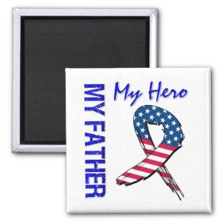 Mein Vater mein Held-patriotisches Schmutz-Band Quadratischer Magnet