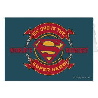 Mein Vati ist der bestste Superheld der Welt Karte