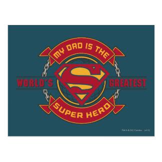 Mein Vati ist der bestste Superheld der Welt Postkarten