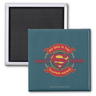Mein Vati ist der bestste Superheld der Welt Quadratischer Magnet