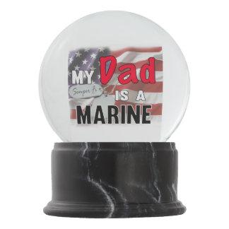 Mein Vati ist ein Marinesoldat Schneekugel