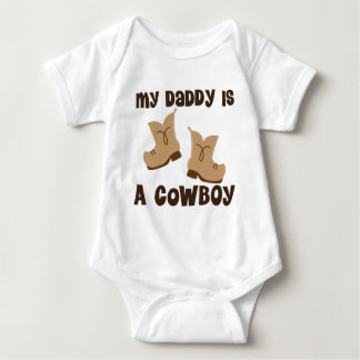 Mein Vati ist eine Cowboy-Geschenk-Idee Babybody
