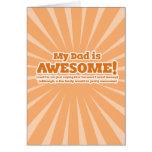 Mein Vati ist fantastische lustige Vatertags-Karte