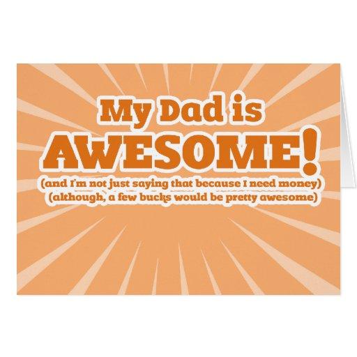 Mein Vati ist fantastische lustige Vatertags-Karte Grußkarte