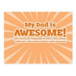 Mein Vati ist fantastische lustige Vatertags-Karte Postkarten