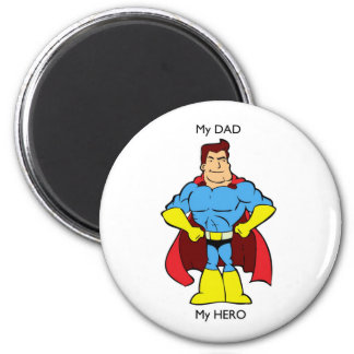Mein Vati mein Held-Superheld Runder Magnet 5,1 Cm