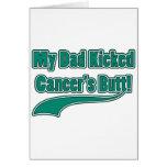 Mein Vati trat den Hintern des Krebses! Grußkarten
