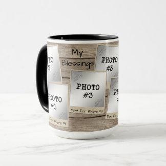 Mein Vintages Foto Rahmen-Holz des Segen-7-Foto Tasse