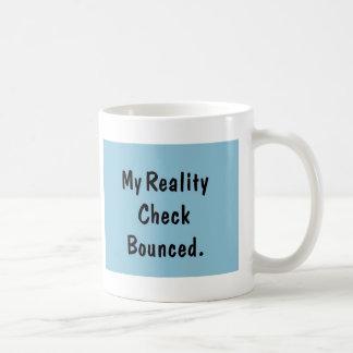 Mein Wirklichkeits-Karo aufgeprallt Kaffeetasse
