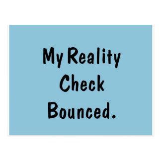 Mein Wirklichkeits-Karo aufgeprallt Postkarte
